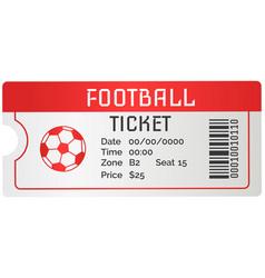 Football ticket card modern design invitation vector