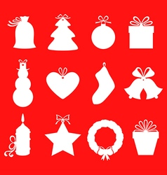 gift label red vector image