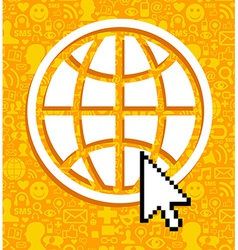 Global communications symbol vector image