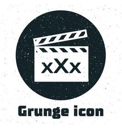 Grunge movie clapper with inscription xxx icon vector