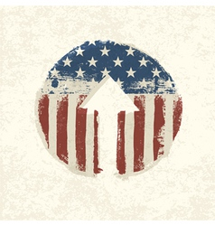 grunge up arrow american vector image