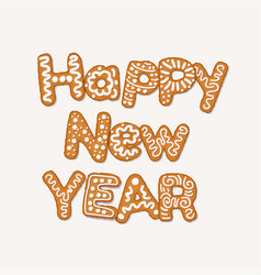 happy new year concept with gingerbread cookies vector image