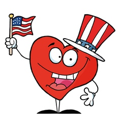 Heart in patriotic hat vector