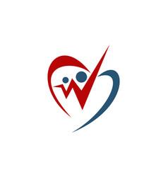 Heart valentine share vector