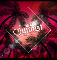 hello summer with typography letter vector image