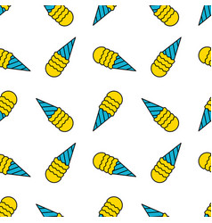 ice cream seamless pattern doodle texture vector image