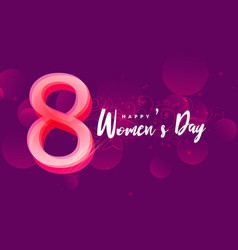 international happy womans day creative design vector image