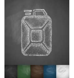 jerrycan icon vector image
