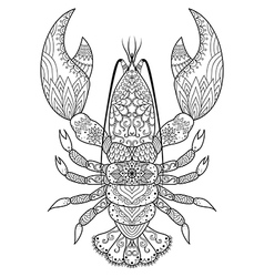 Lobster coloring book vector