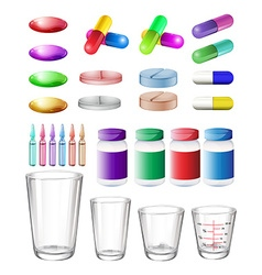 Medical container and medicine vector