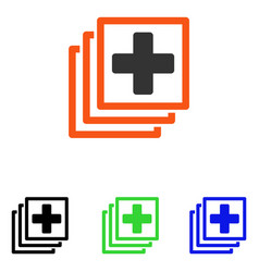 Medical docs flat icon vector