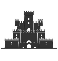 medieval castle tower building architecture vector image