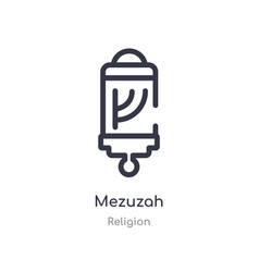 Mezuzah outline icon isolated line from religion vector