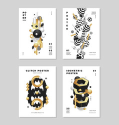 Modern abstract clean golden cover design vector