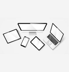 Modern device isolated vector