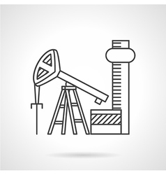 Oil extraction line icon vector