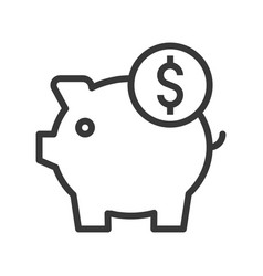 Piggy bank and coin bank and financial related vector