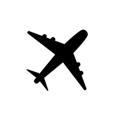 plane icon solid logo pictogram isolated on vector image