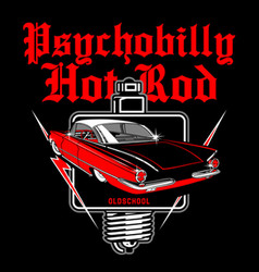 Psychobilly hotrod vector