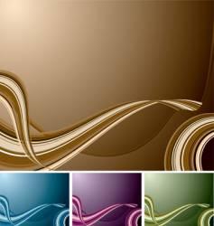 quad swirl background vector image