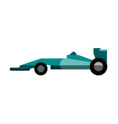 Race car flat vector