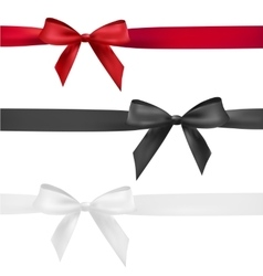 Red black and white bow vector