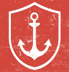 retro vintage anchor vector image