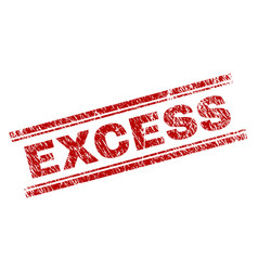 Scratched textured excess stamp seal vector