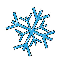 scribble snowflake cartoon vector image