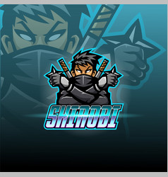 shinobi esport mascot logo design vector image
