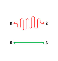 Simplify way like route from point a to b vector