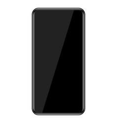 Smartphone with infinity display vector
