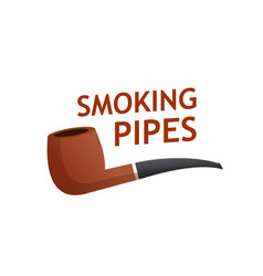 smoking pipes logo icon isolated on white vector image