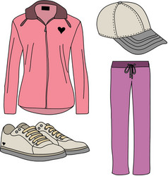 Sport suits for women vector image