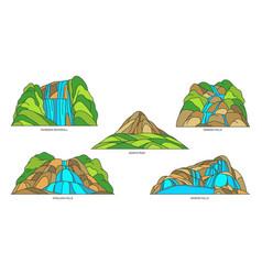 sri lanka nature landmarks travel place landscape vector image