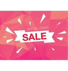 Super Sale Special Offer banner on pink background vector image