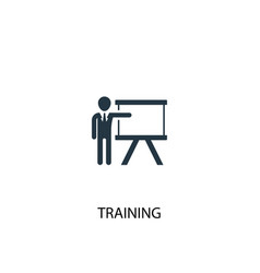 Training icon simple element vector