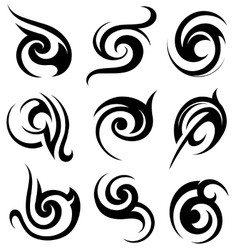 Tribal art shapes vector image