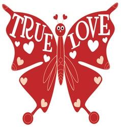 True Love Butterfly vector image