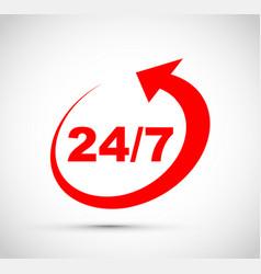 Twenty four seven icon vector