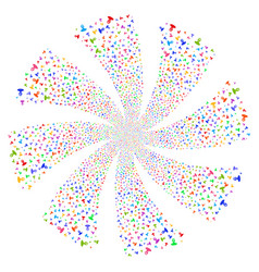 Unknown person fireworks swirl rotation vector