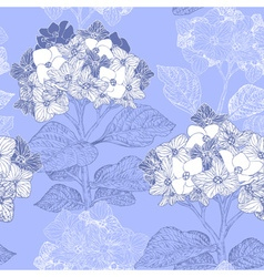 Vintage Floral Seamless Background with Hydrangeas vector