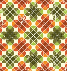 Vintage floral seamless pattern bright geometric vector image