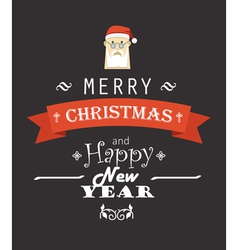 Merry Christmas decorative invitation card vector image