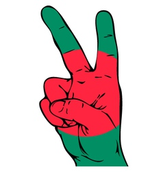 Peace Sign of the Bangladeshi flag vector image