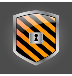 Security shield with keyhole vector image