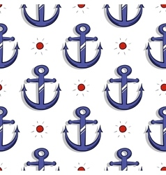 Blue Anchors Seamless Pattern vector image