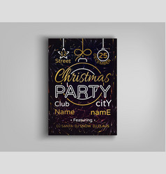 christmas party card flyer invitation vector image vector image