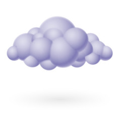 cloud icon on white for design vector image vector image