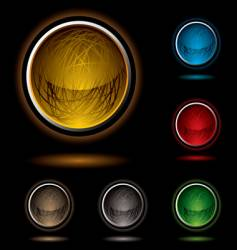scribble button bright vector image